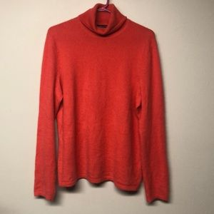 Lord & Taylor Cashmere Coral Long Sleeve Sweater